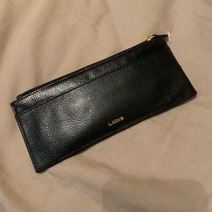 Lodis Black Leather Credit Card Wallet